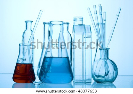 Chemical Test Tube . Medical experiment with Laboratory glass