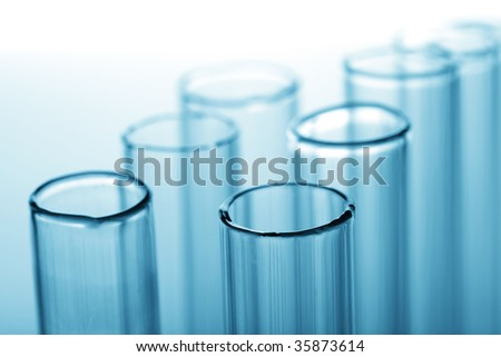 chemical test tubes - stock photo
