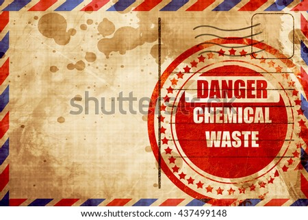 Chemical waste sign - stock photo