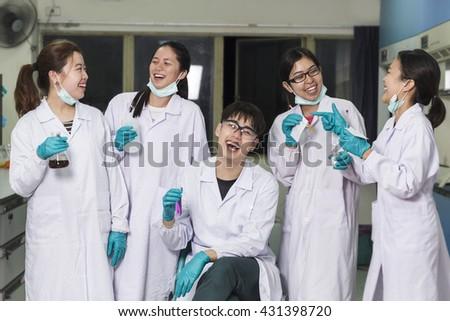 Chemist team  in the lab, Scientist - stock photo