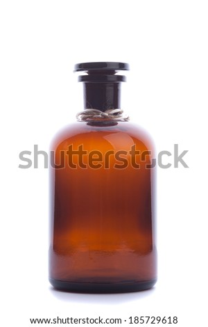 chemist vintage bottle isolated - stock photo