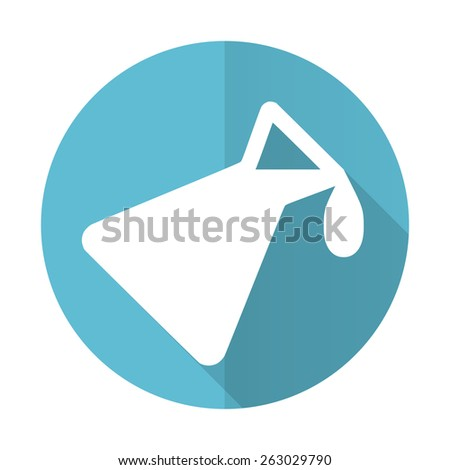 chemistry blue flat icon   - stock photo