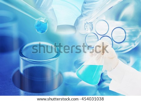 chemistry medicine research at science lab background