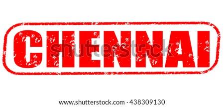 chennai stamp on white background. - stock photo