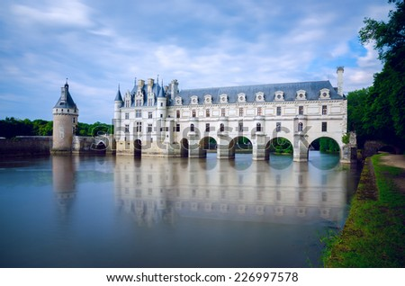 CHENONCEAU, FRANCE - MAY 28. Chateau de Chenonceau on May 28, 2014, Loire Valley, France - stock photo