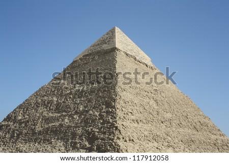 Chephren Pyramid, Giza, Cairo, Egypt - stock photo