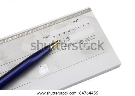 Chequebook - stock photo