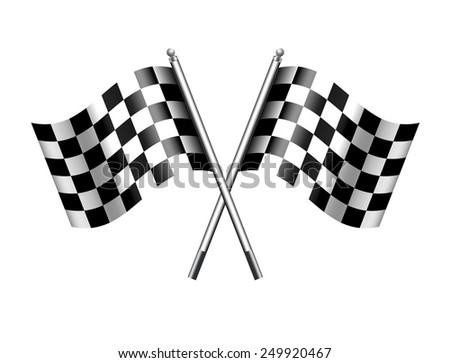 Chequered Flags - Checkered Flag Motor Racing - Raster Version