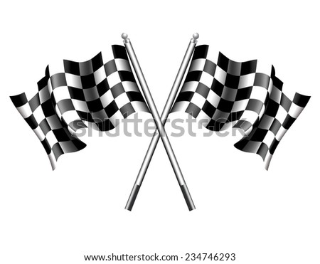 Chequered Flags Motor Racing - Raster Version