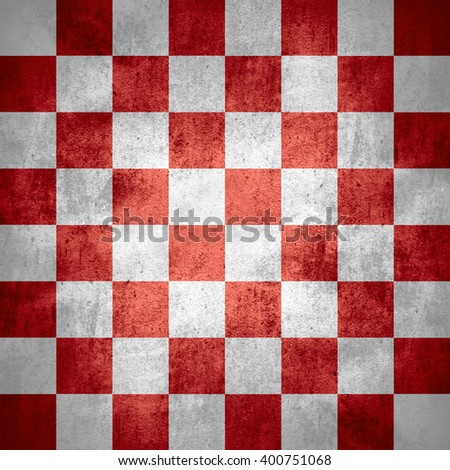 chequered pattern texture or red and white chessboard background, check - stock photo