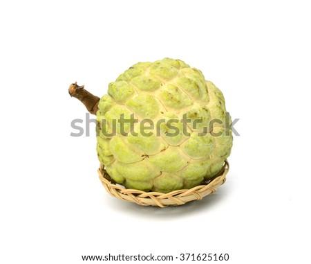 Cherimoya fruit or custard apple - stock photo