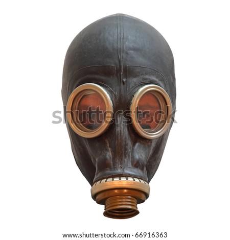 Chernobyl mask isolated on white - stock photo