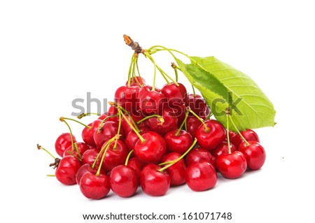 Cherries. Isolated on a white background.