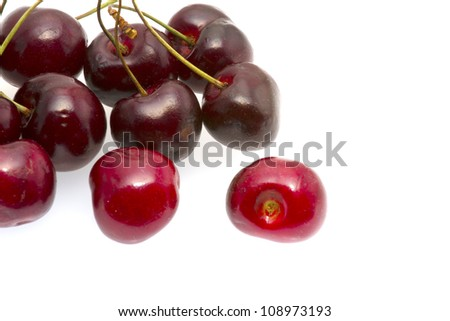 cherry and background.