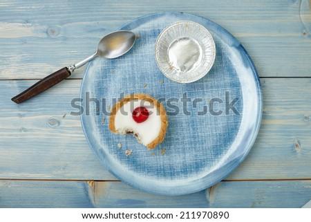 Cherry bakewell tart - stock photo