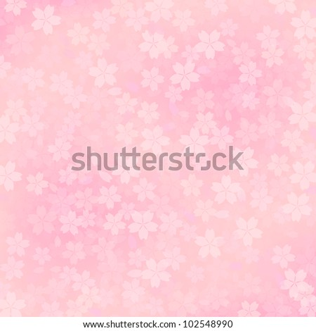 cherry blossom's background - stock photo