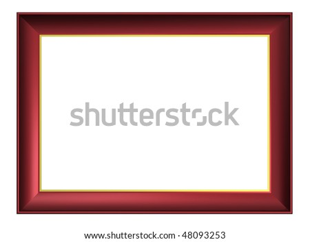 Cherry-brown frame isolated on white background. Computer generated 3D photo rendering.