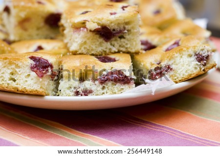 Cherry Cake - stock photo