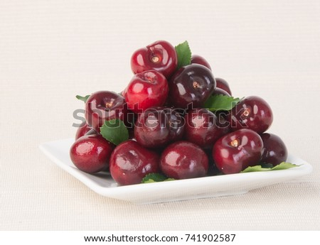 cherry. cherry berry on a background