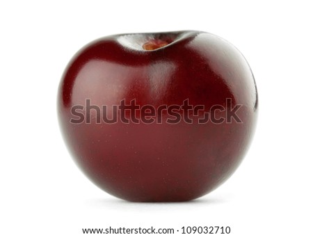 Cherry close-up on white background - stock photo