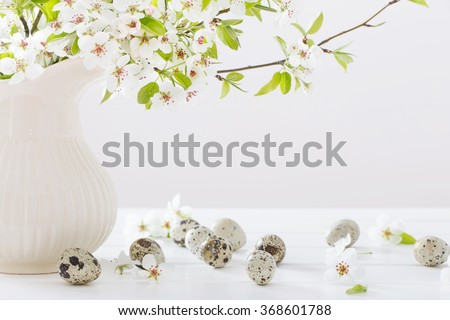 cherry flowers on white background