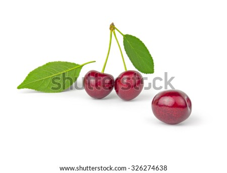 Cherry isolated isolated on a white cutout
