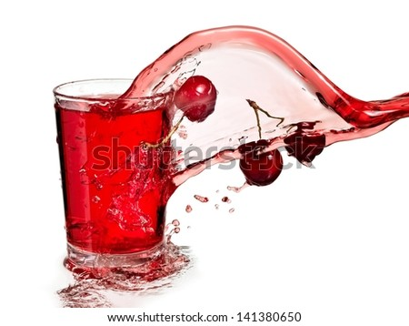 Cherry juice splash
