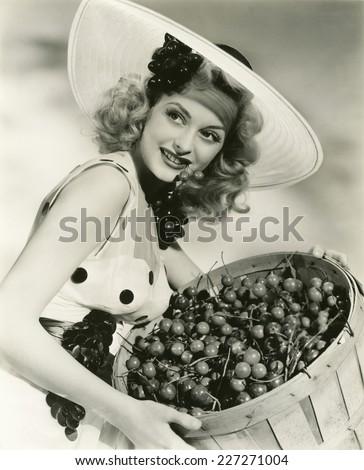 Cherry picking - stock photo
