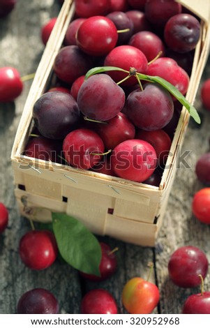 Cherry plum basket