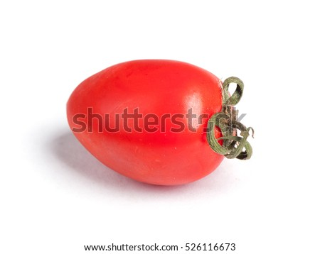 Cherry plump tomato isolated on white background