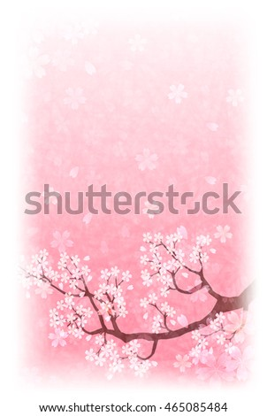 Cherry Spring Japanese paper background