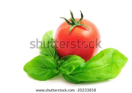 Cherry-tomato and basil