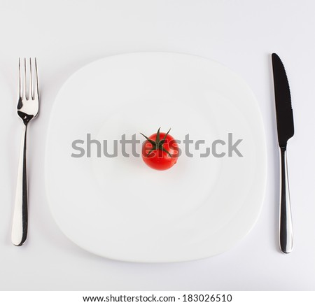 cherry tomato on the plate
