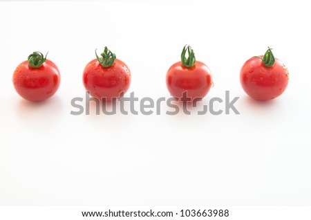 Cherry Tomatoes Series (all red) - stock photo