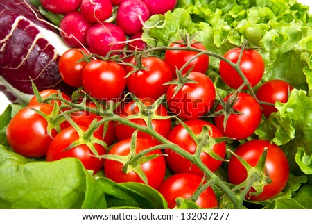cherry tomatoes with salad