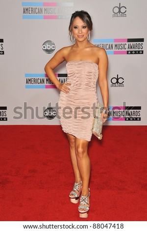 Cheryl Burke at the 2010 American Music Awards at the Nokia Theatre L.A. Live in downtown Los Angeles. November 21, 2010  Los Angeles, CA Picture: Paul Smith / Featureflash