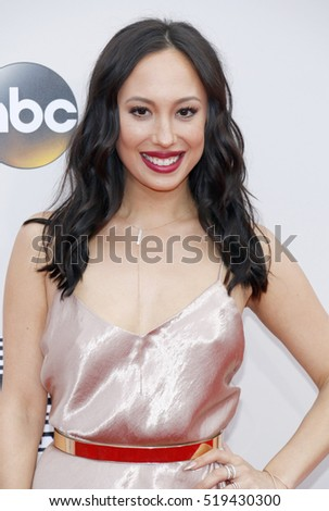 Cheryl Burke at the 2016 American Music Awards held at the Microsoft Theater in Los Angeles, USA on November 20, 2016.