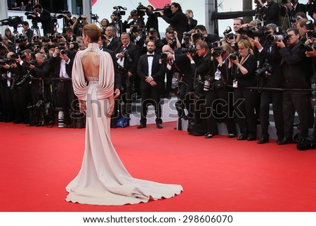 Cheryl Fernandez-Versini attends the Premiere of 'Irrational Man' during the 68th annual Cannes Film Festival on May 15, 2015 in Cannes, France. - stock photo