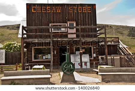 CHESAW WA -MAY 30 - This is the historic general store, still operational, and has a sense of going back in time when visiting. Taken May 30, 2008 in Chesaw, WA - stock photo
