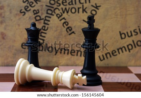 Chess and employment concept - stock photo