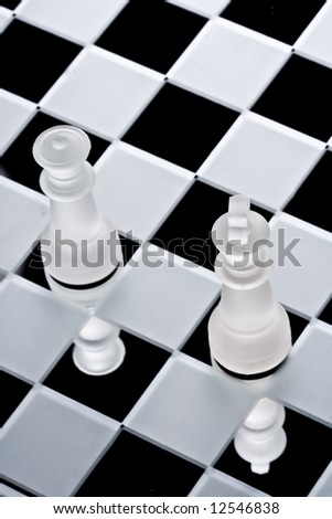 Chess and queen - stock photo