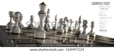 Chess background - checkmate isolated on white background High resolution 3d