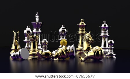 Chess battle -defeat
