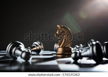 Chess battle defeat pawn of silver team.