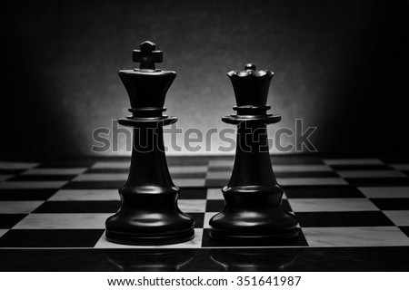 how to set up chess king and queen