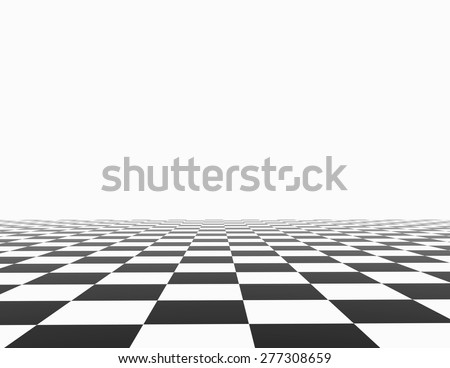 Chess Board White Background Template Empty Stock Illustration ...
