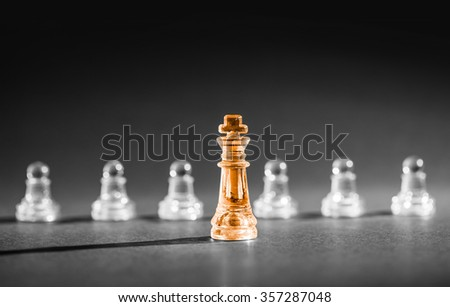Chess business success, leadership concept. - stock photo