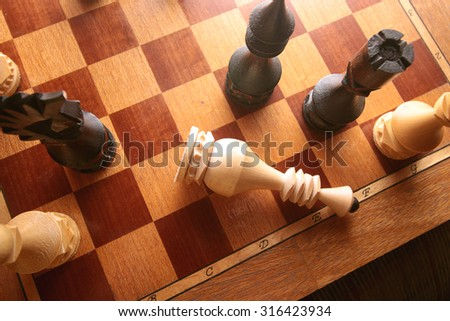 Chess checkmate combination - stock photo