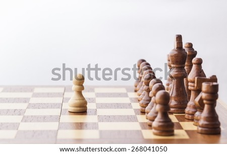 Chess. Chess figure, business concept strategy, leadership, team and success - stock photo