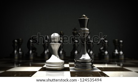 Chess concept background. High resolution 3d render